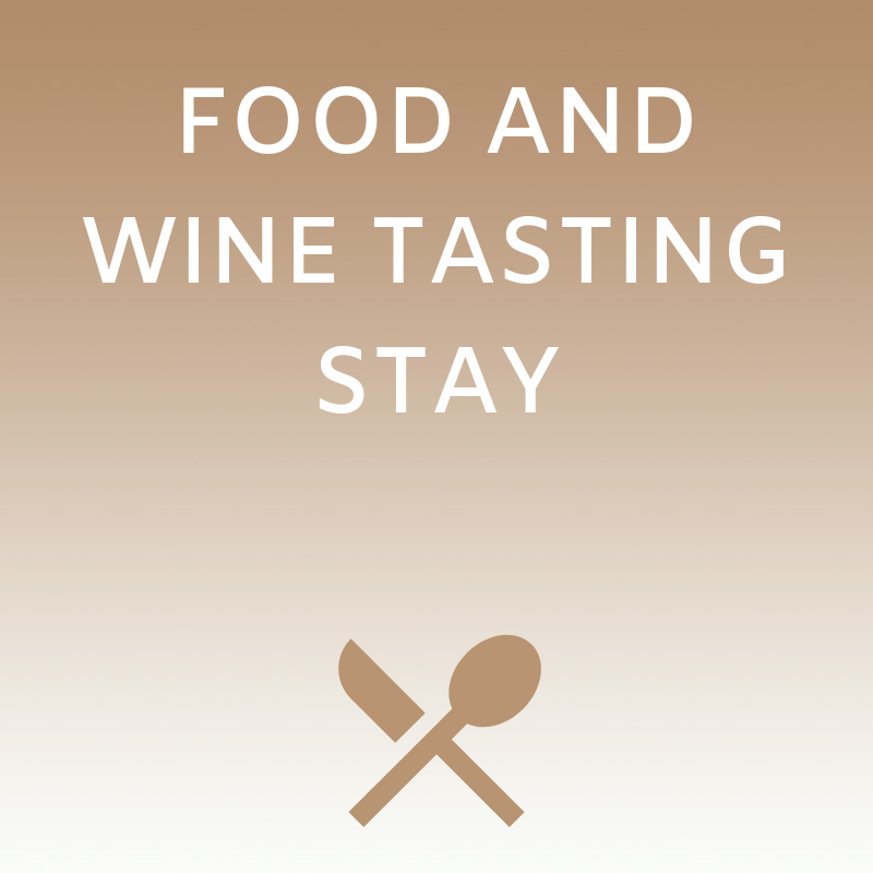 Food and wine tasting stay
